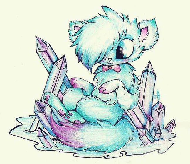 my little crystal kitty by XxsilvixX