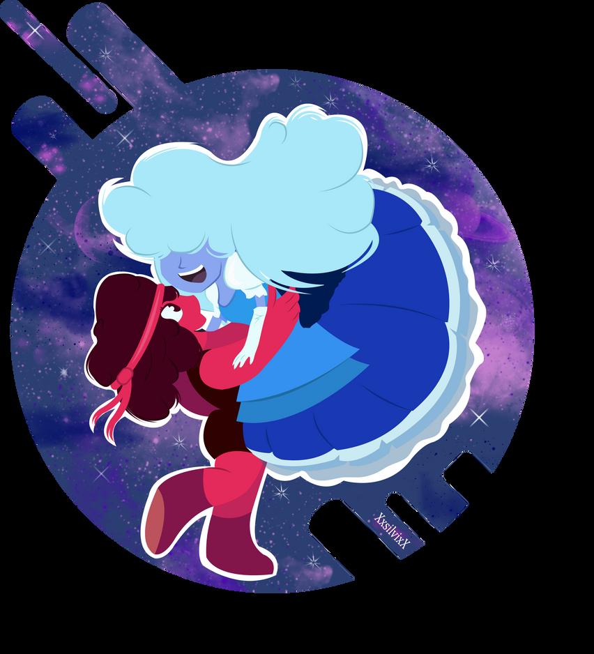 Ruby and Sapphire by XxsilvixX