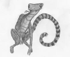 lemur monkey snake doodle by Aurora-Ghost