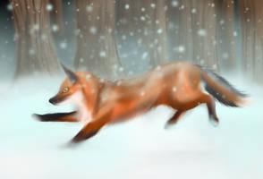 Winter Hunt by Aurora-Ghost