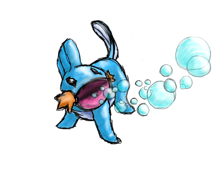 258 - Mudkip by Aurora-Ghost