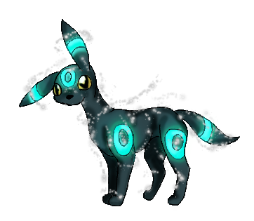 197 - Umbreon (Shiny) by Aurora-Ghost