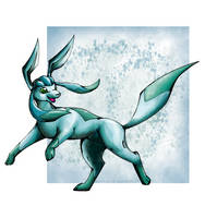 Glaceon by Aurora-Ghost
