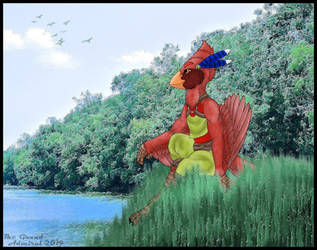 Commission:  Cardinal on a Hill by TheGrandAdmiral