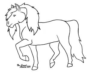 Pony lineart FREE TO COLOR by TheGrandAdmiral
