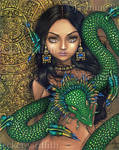Priestess of Quetzalcoatl by jasminetoad