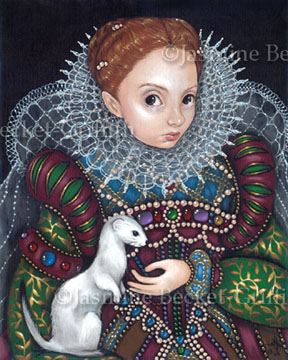 Queen Elizabeth and an Ermine by jasminetoad