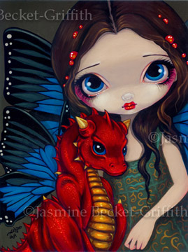 Baby Red Dragon by jasminetoad