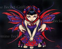 Polka Dot Mushroom Fairy by jasminetoad