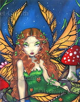 Red Haired Fairy Queen by jasminetoad