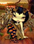 Owlyn in Autumn by jasminetoad