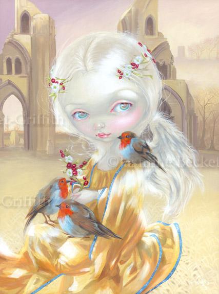Angel at Glastonbury Abbey by jasminetoad