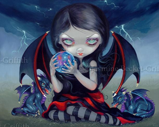 Dark Dragonling by jasminetoad