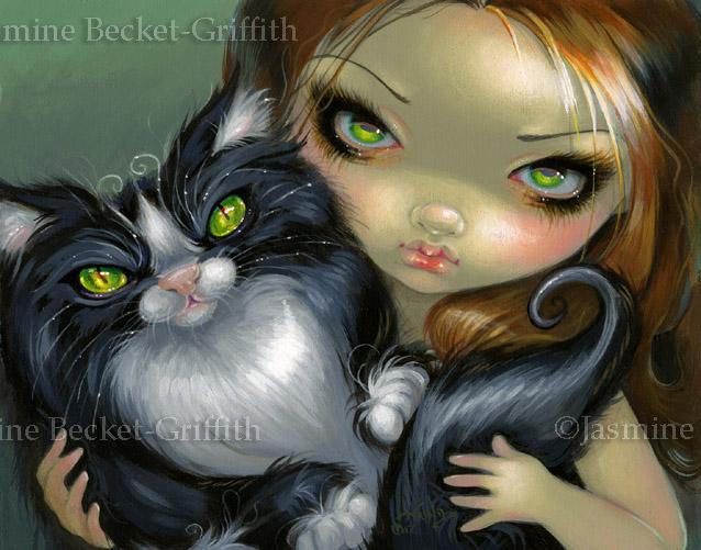 Tricksy Tuxedo Cat by jasminetoad