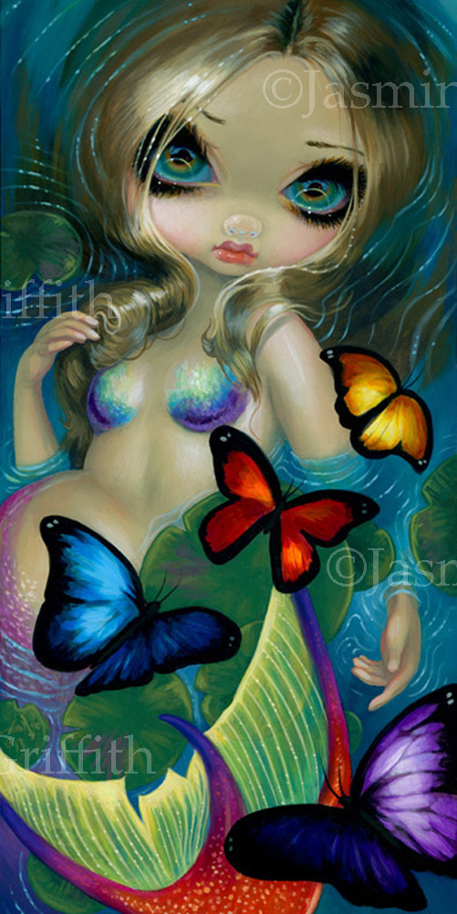 Mermaid with Butterflies by jasminetoad