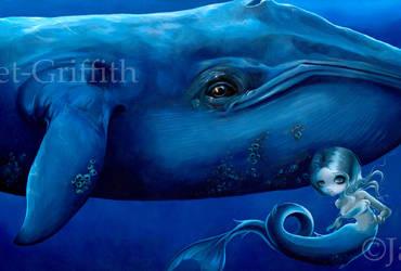 Big Blue Whale by jasminetoad