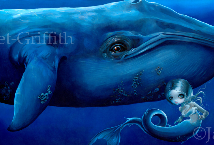 Big Blue Whale by jasminetoad