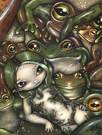 Bed of Frogs by jasminetoad