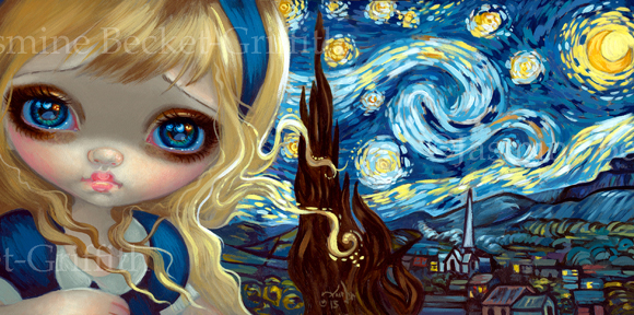 Alice in the Starry Night by jasminetoad