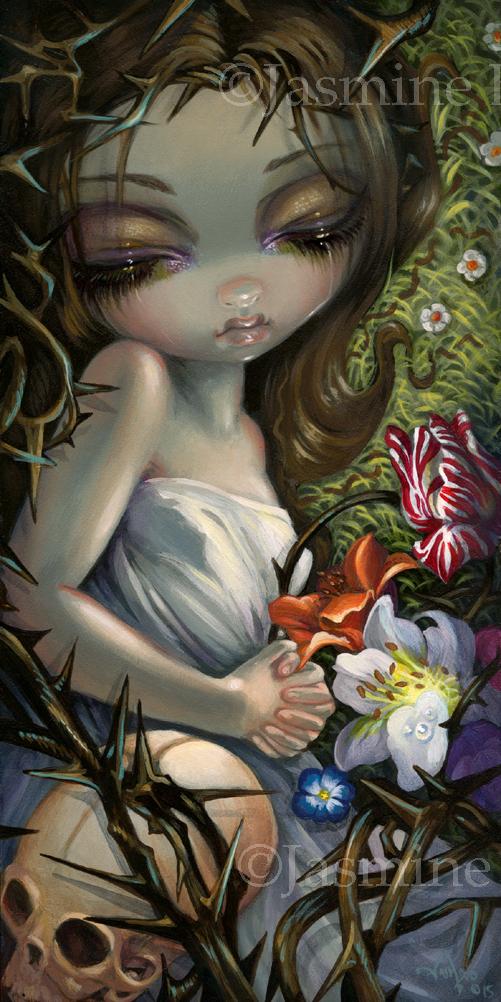 Sleeping in Thorns by jasminetoad