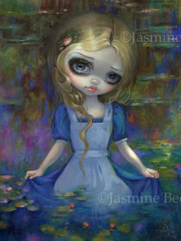Alice in Monet's Water Lilies