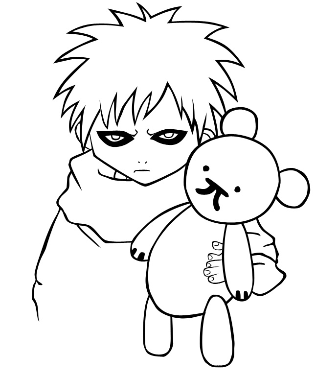 gaara coloring pages - photo#31
