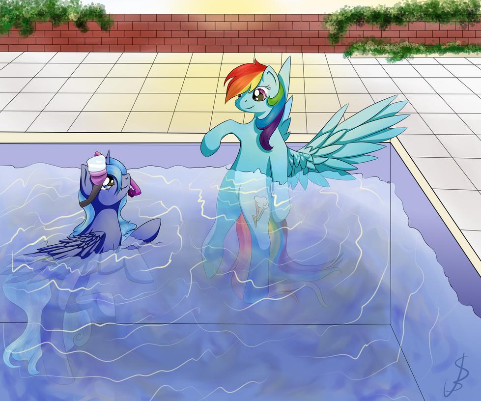 Rainbow Dash and Lulu Star Moonie by NovemberLilly