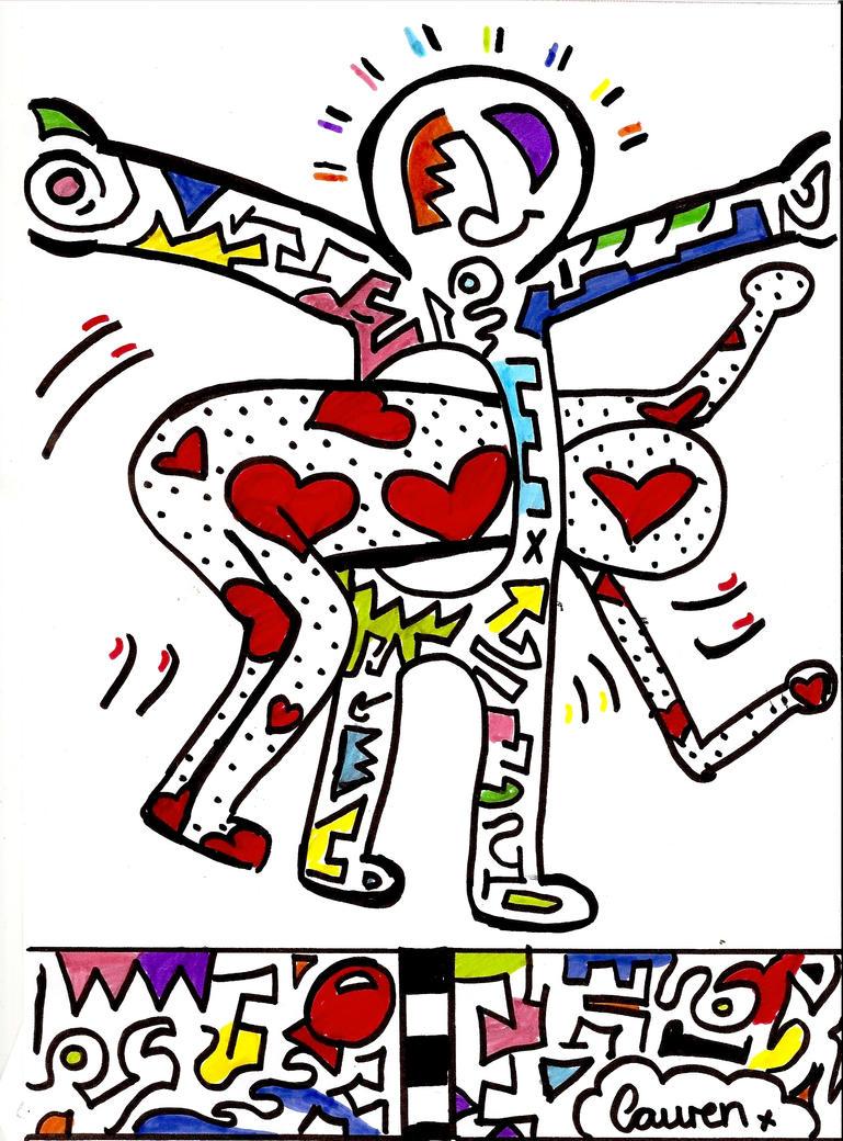 Keith Haring Tribute by LaurenJoanna on DeviantArt