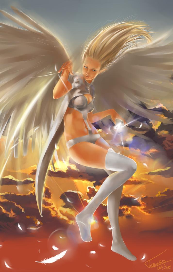 silvery angel by TychyTamara