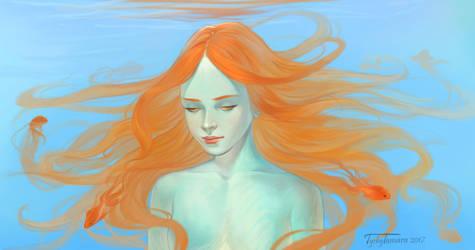 Goldfish with goldfishes by TychyTamara