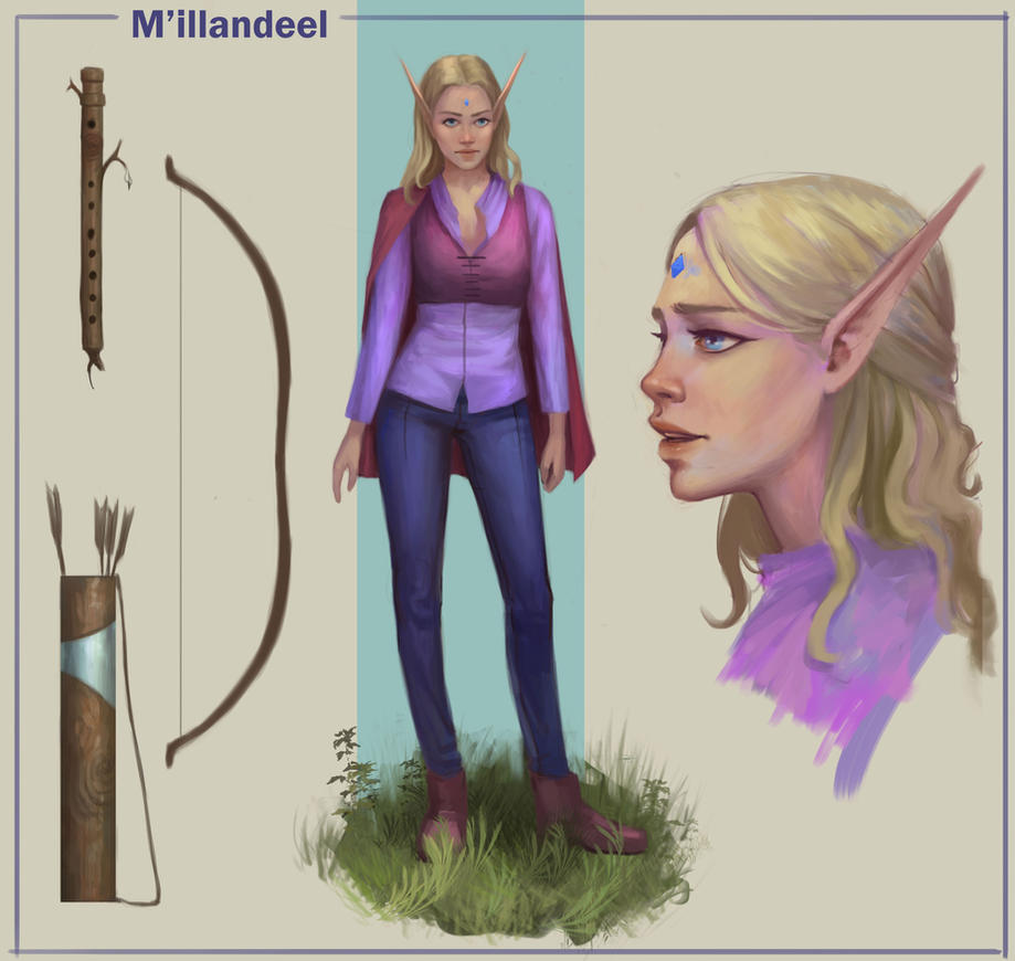 DND Bard character reference by TychyTamara