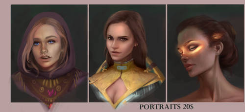 Portrait commissions *expired* by TychyTamara