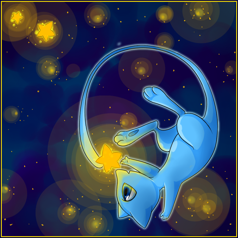 Collecting Stars - Shiny Mew by Nestly on DeviantArt