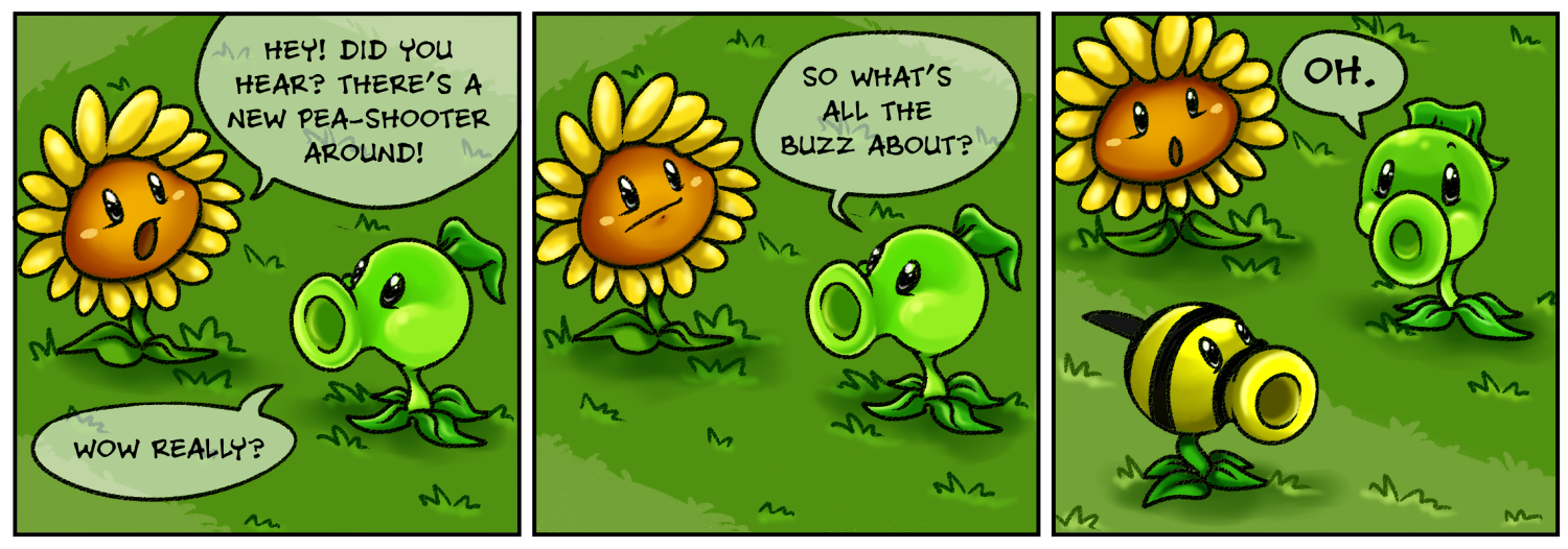 Punny sunny plants vs zombies 2 by nestly