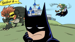 Batman, in Hyrule, after losing a bet by Nestly