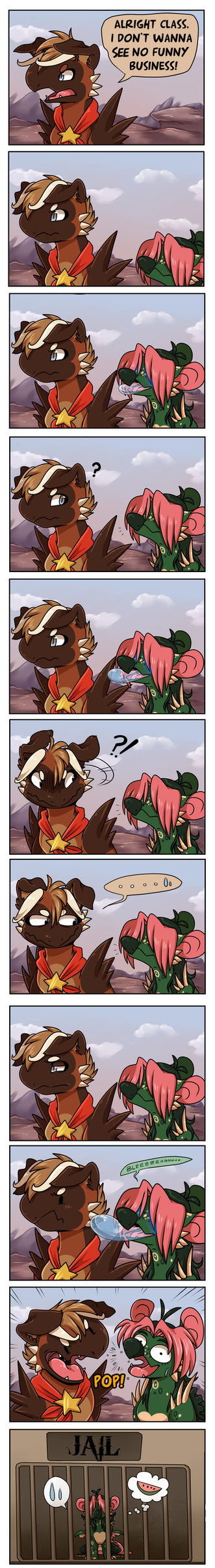 Wyngro Comic 3: Don't piss off the cops by Nestly