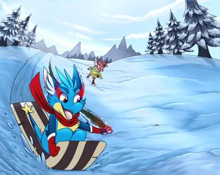 Sledding Shenannigans - Merry Christmas 2020!