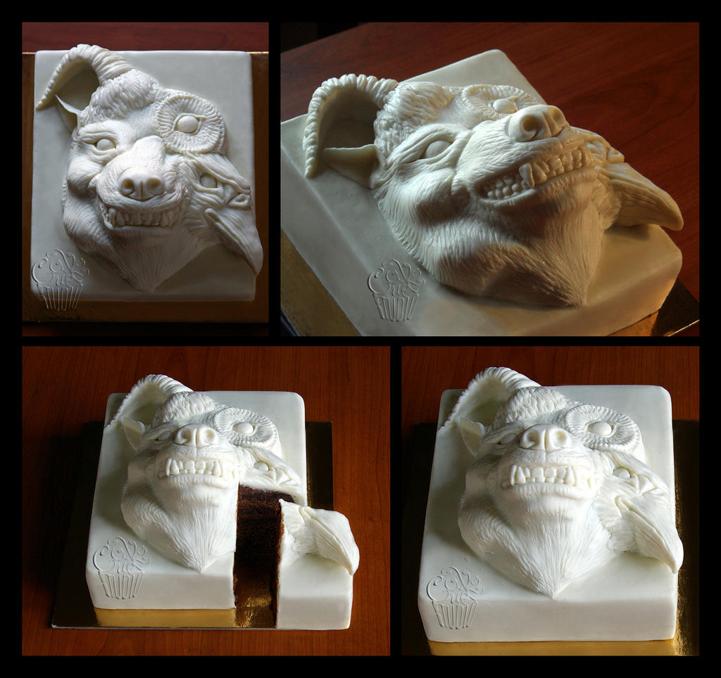 Beautiful Deformity FanArt Cake 2 by CakeUpStudio