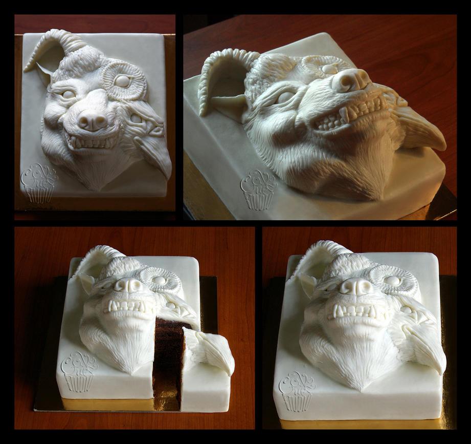 Beautiful Deformity FanArt Cake 2 by CakeUpStudio