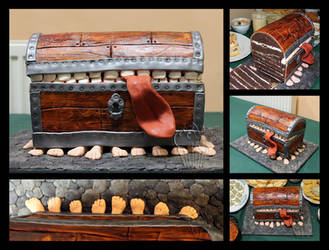 Pratchett's Luggage Cake by CakeUpStudio
