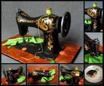 for Sis 2014 - Vintage Sewing Machine Cake