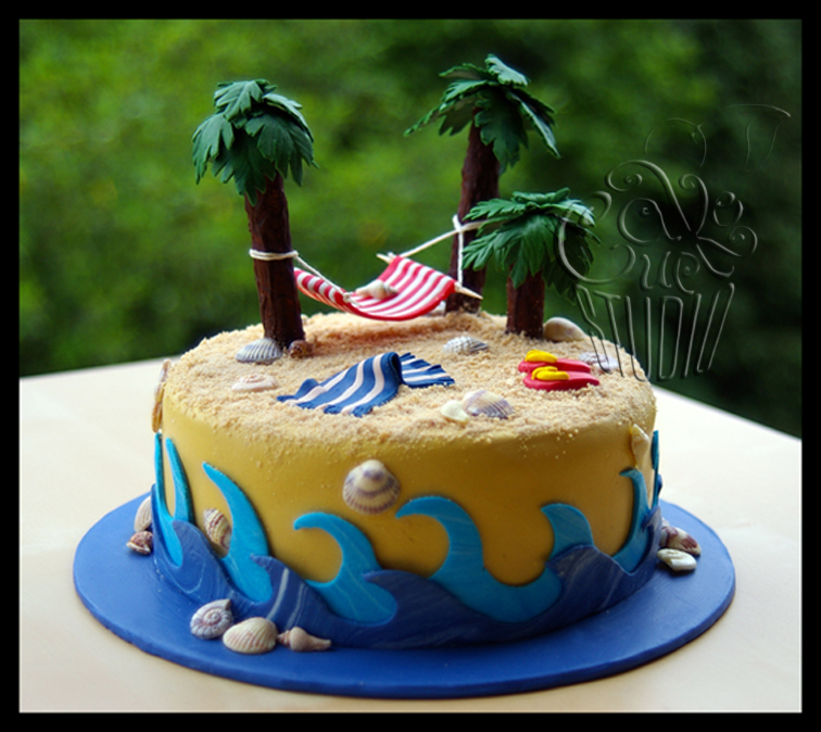 Tropical Birthday Cake Images