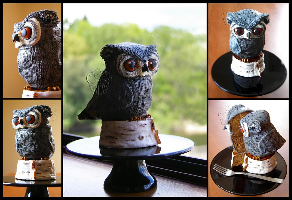 Little Owl Cake by CakeUpStudio