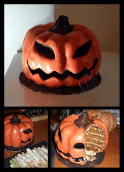 Fake Pumpkin - Halloween Cake