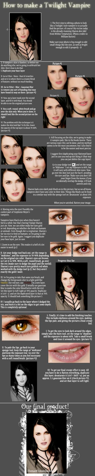 Twilight Vampire Tutorial by HumanConstellation