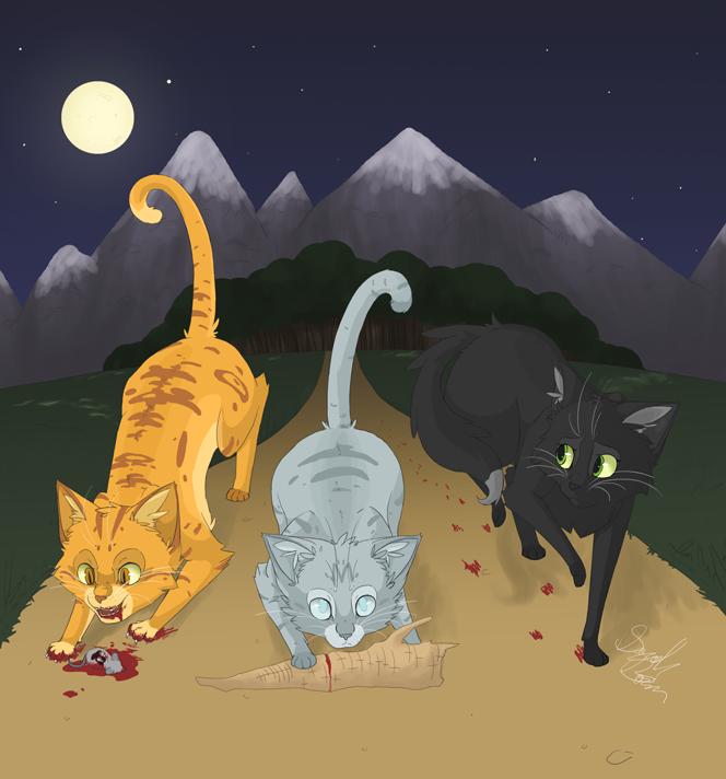Warriors Erin Hunter Wallpaper: The Power Of Three By BlueMaroon On DeviantArt