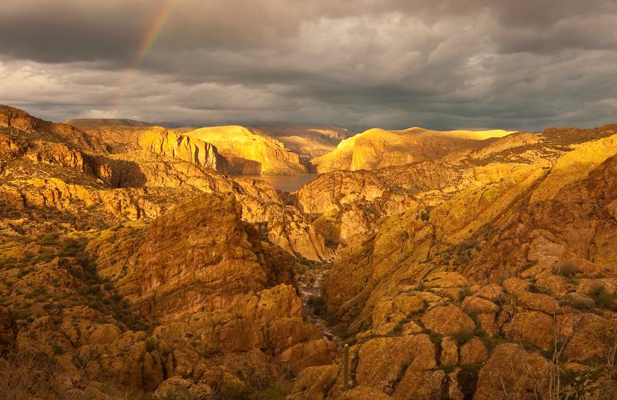 Canyon Lake Rainbow by TrentLarsonphoto