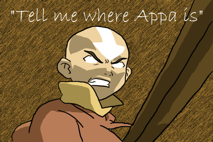 AANG WANTS HIS GODDAMN BISON by I-wuv-Bolin