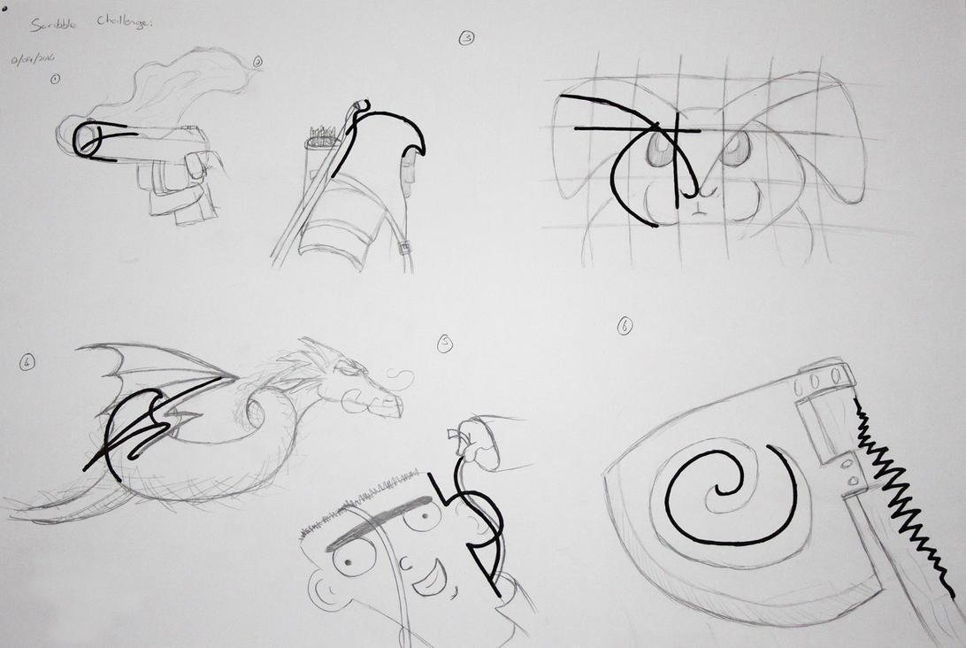 The Line Art Challenge : Scribble challenge by onemansmemories on deviantart