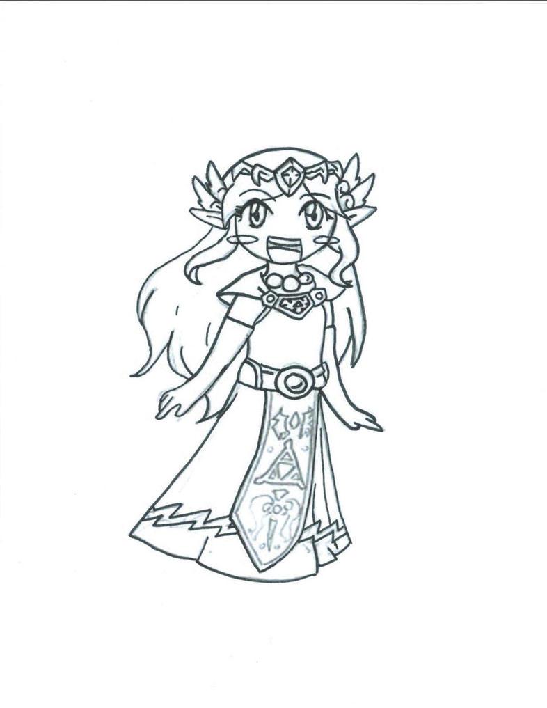 Toon Zelda- Lines by Wolf-Kid1000 on DeviantArt